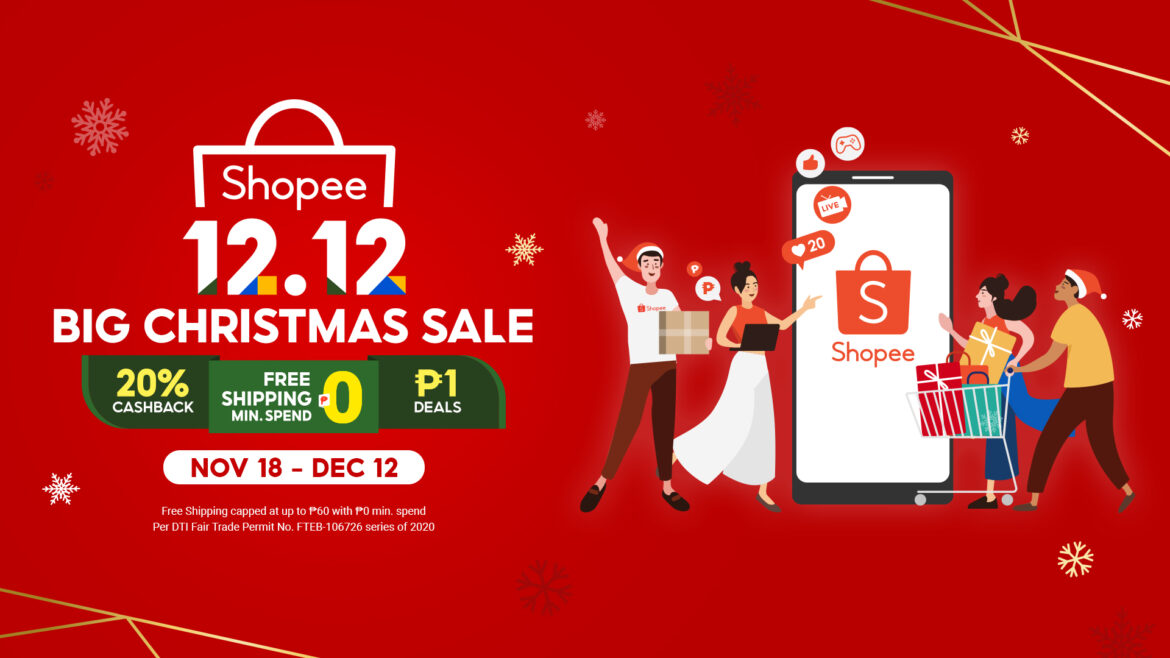 Shopee Launches 12.12 Big Christmas Sale, Celebrates 5 Years
