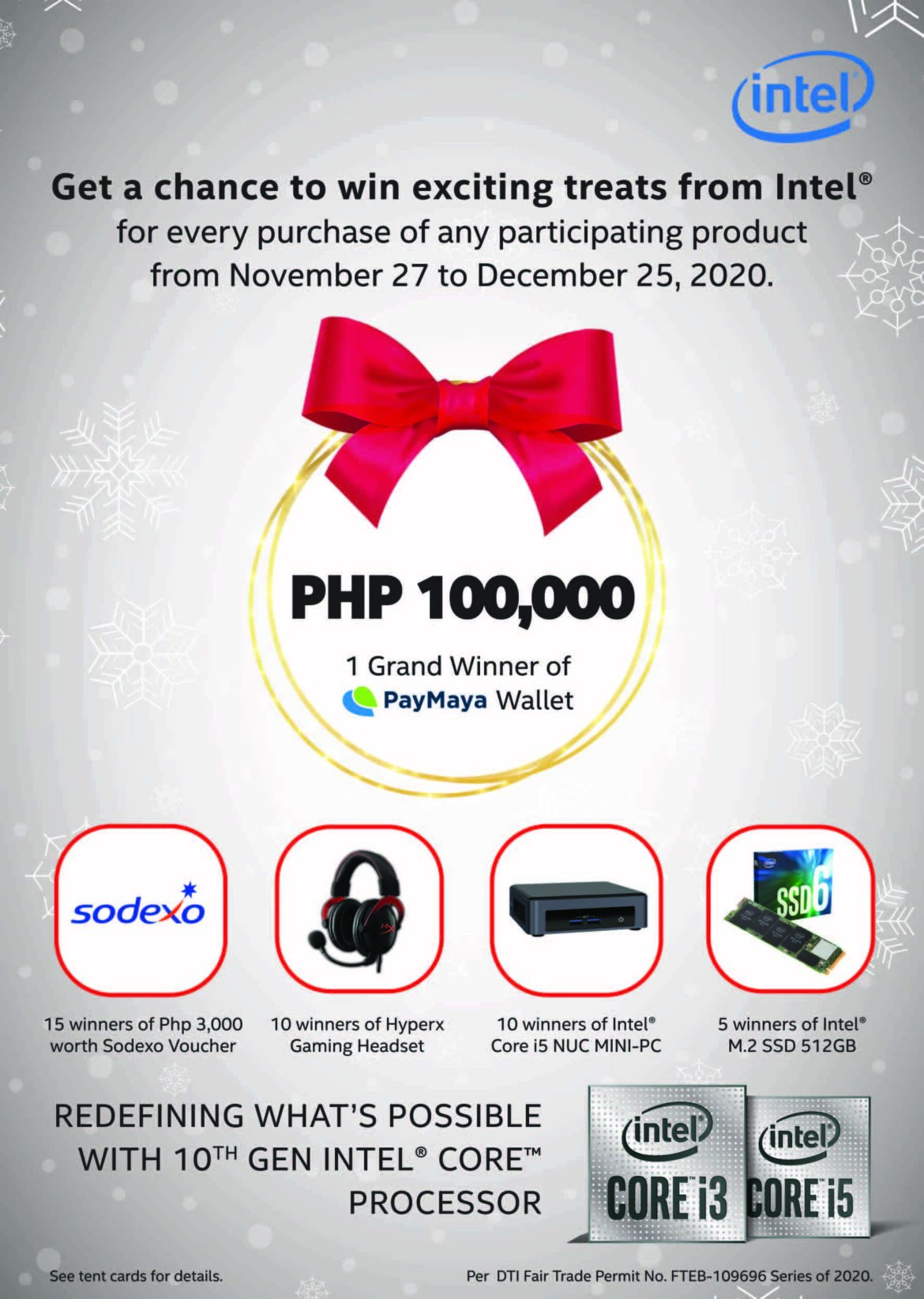 Intel Is Giving Away As Much As Php100,000 and Great Holiday Treats!
