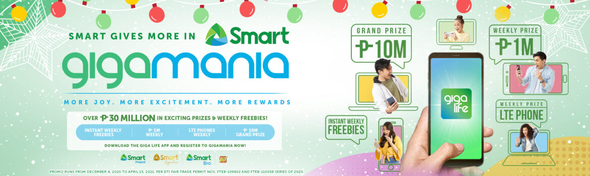 Smart Celebrates the Season of Giving with GIGAMANIA
