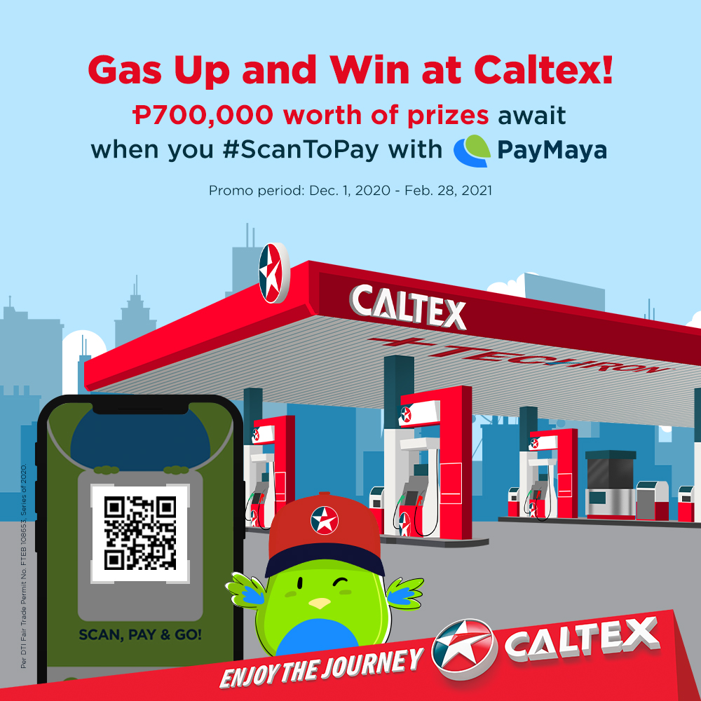 Win as Much as P100k When You #ScanToPay at Caltex via PayMaya QR