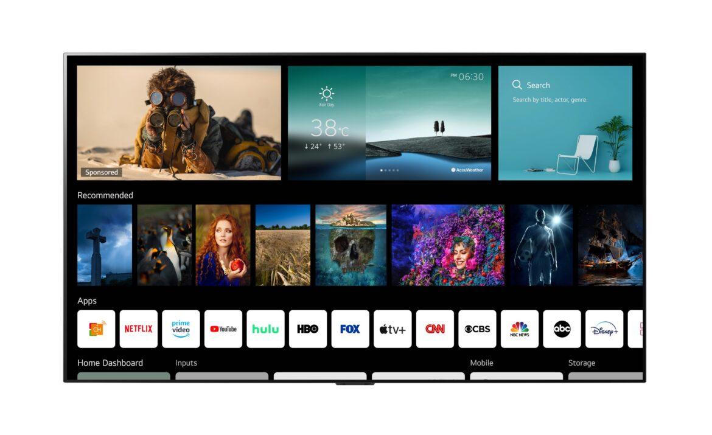 LG's WebOS 6.0 Smart TV Platform Designed for Viewers Today
