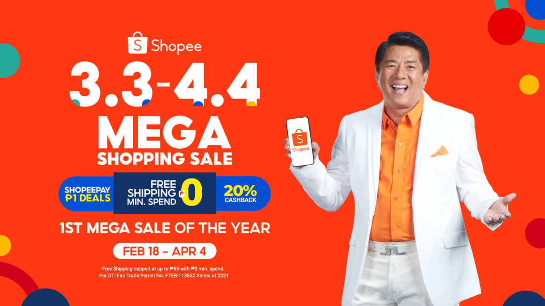 Shopee Kicks Off 3.3 – 4.4 Mega Shopping Sale with Willie Revillame