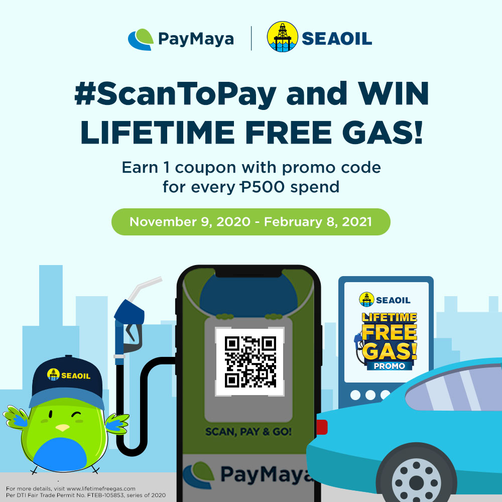 Win a Lifetime Supply of Free SEAOIL Gas with PayMaya!