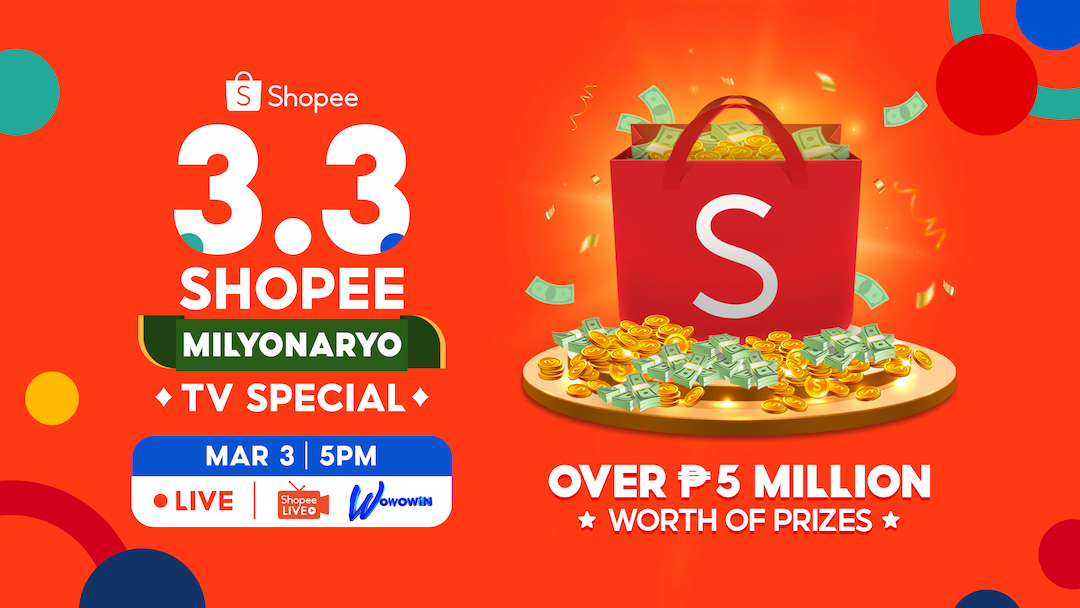 Celebrate Shopee 3.3 Mega Shopping Day at GMA 7's Tutok to Win