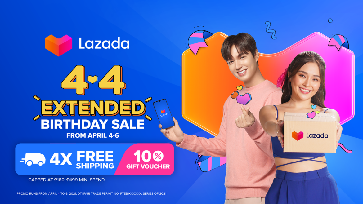 4.4 Lazada Extended Birthday Sale with More Amazing Deals