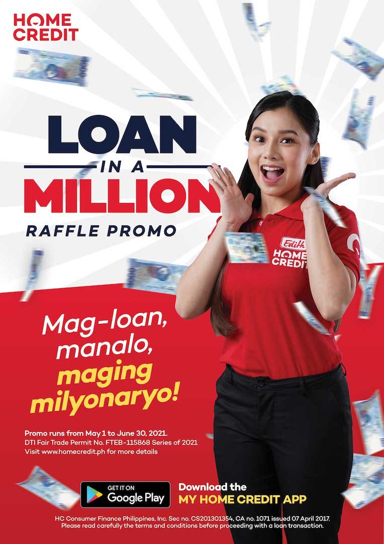 Win up to Php 1M in Home Credit's Loan in a Million Raffle Promo