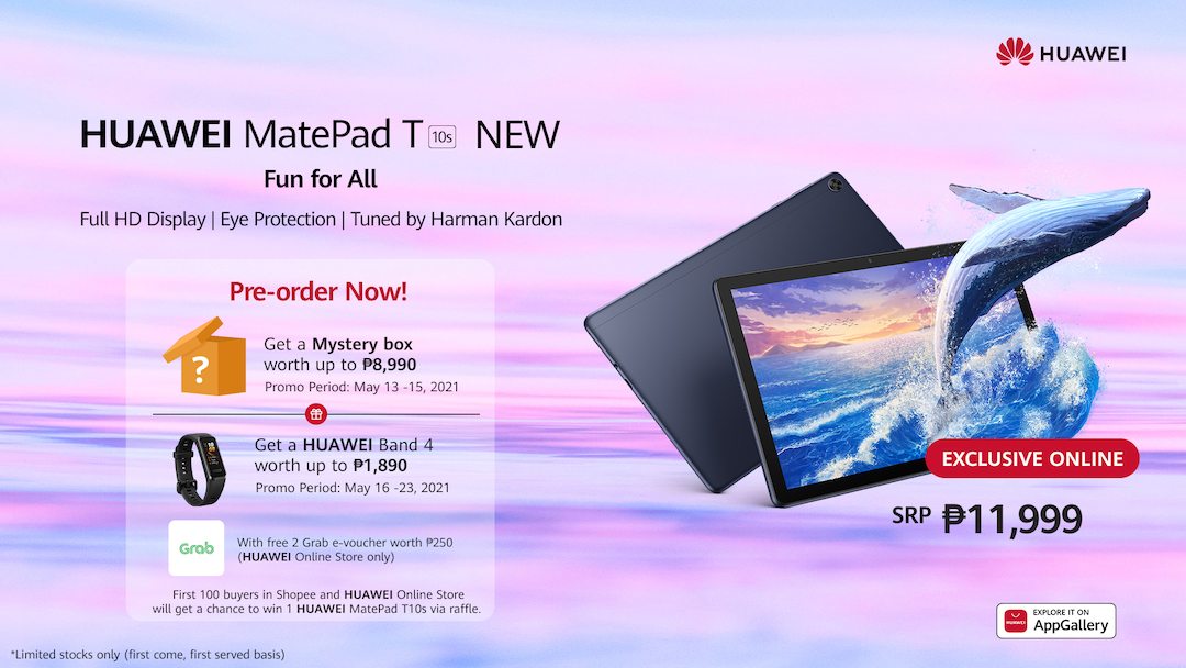 The all-new HUAWEI MatePad T10s Comes with Freebies