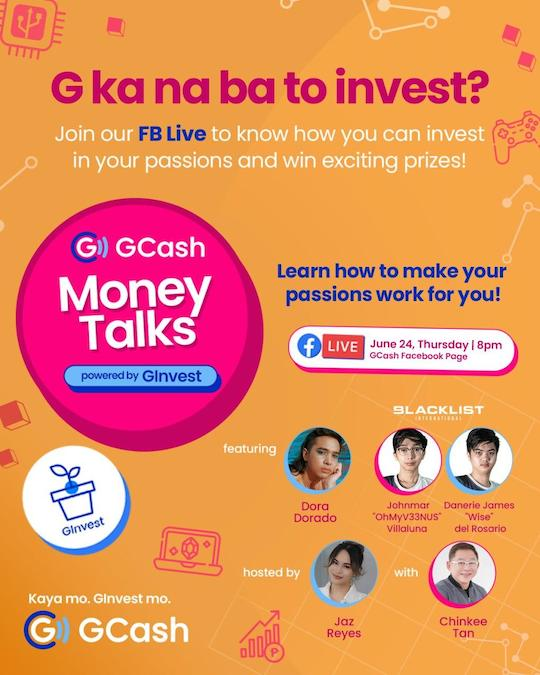 Learn How to Invest in Your Passions and Grow Your Savings in GCash 2nd Money Talks Series