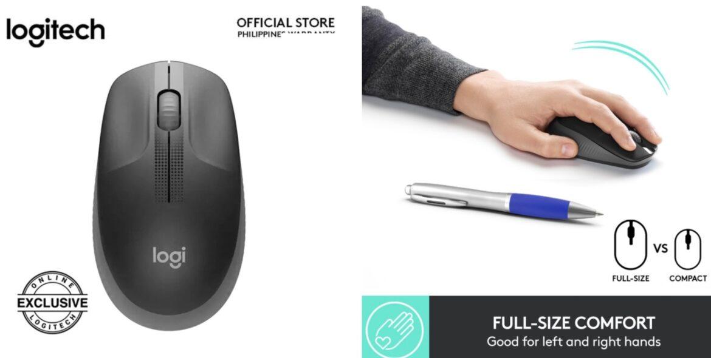 Logitech Wireless Mouse M191 – Ambidextrous, Full-Size Comfort