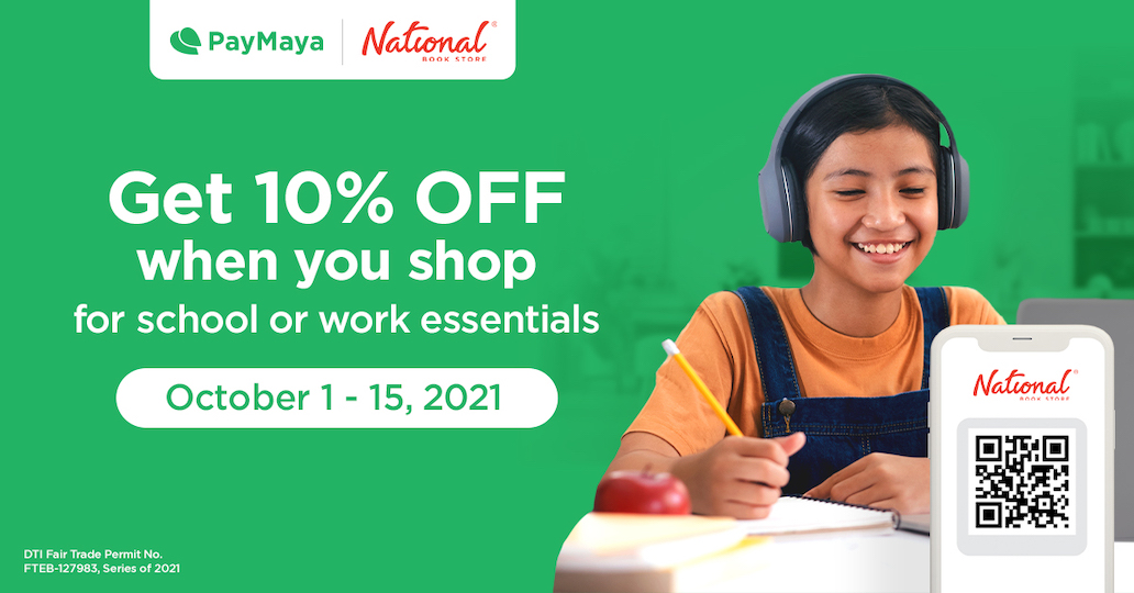 Enjoy A More Rewarding Cashless Experience at National Book Store with PayMaya