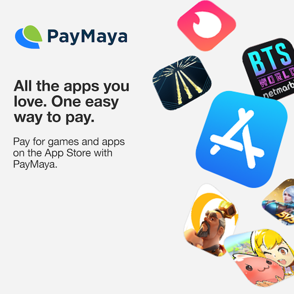 PayMaya is now available as a payment method for the App Store and other Apple Services