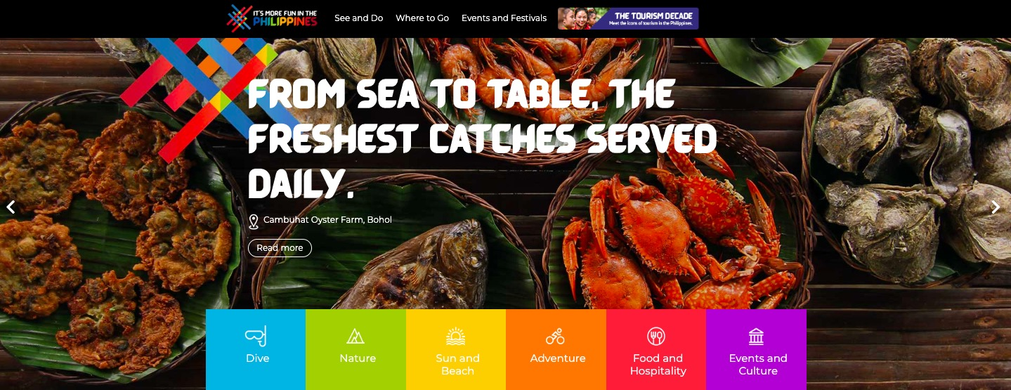 Department of Tourism Unveils a More fun Website