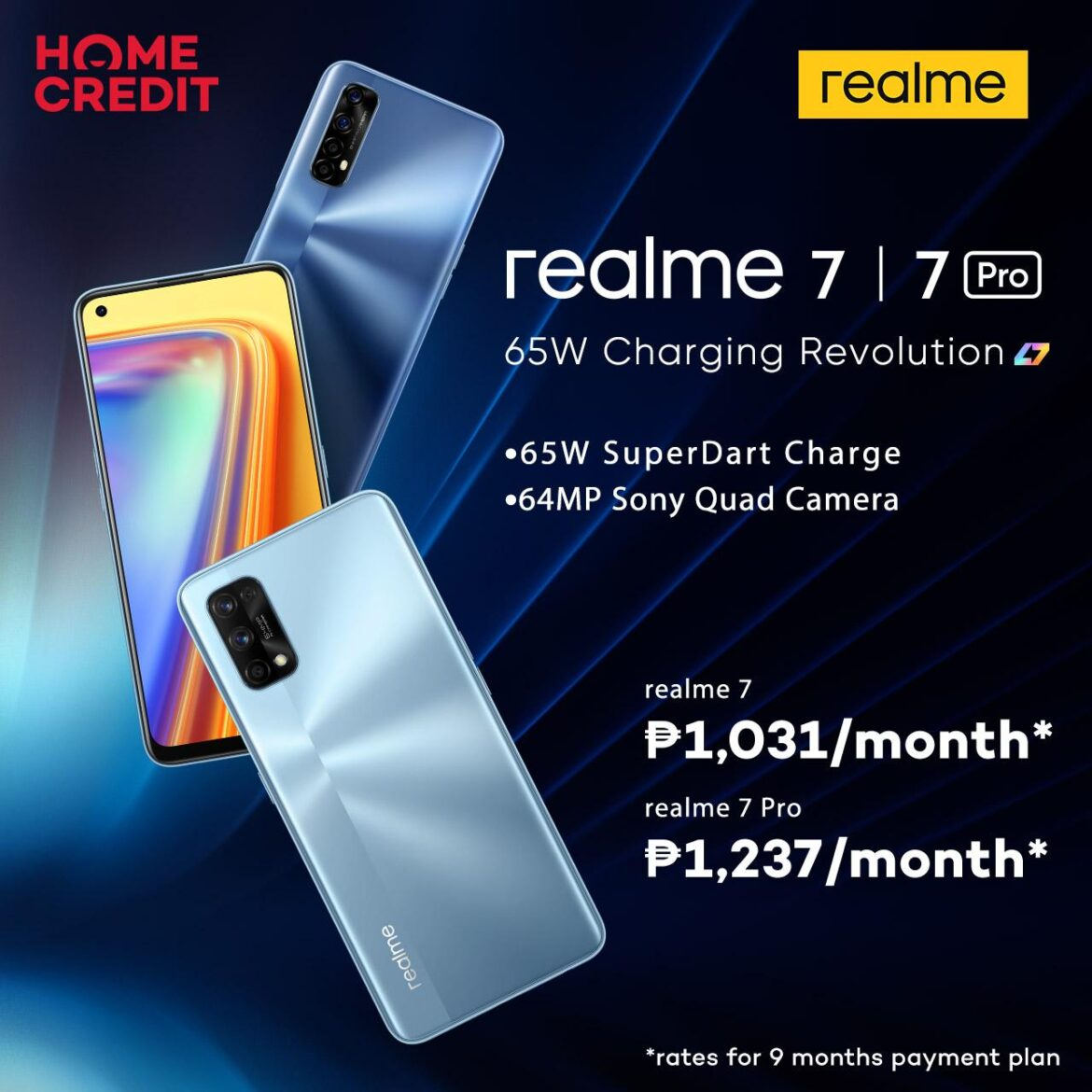 Get The realme 7 Series with Home Credit at 0%