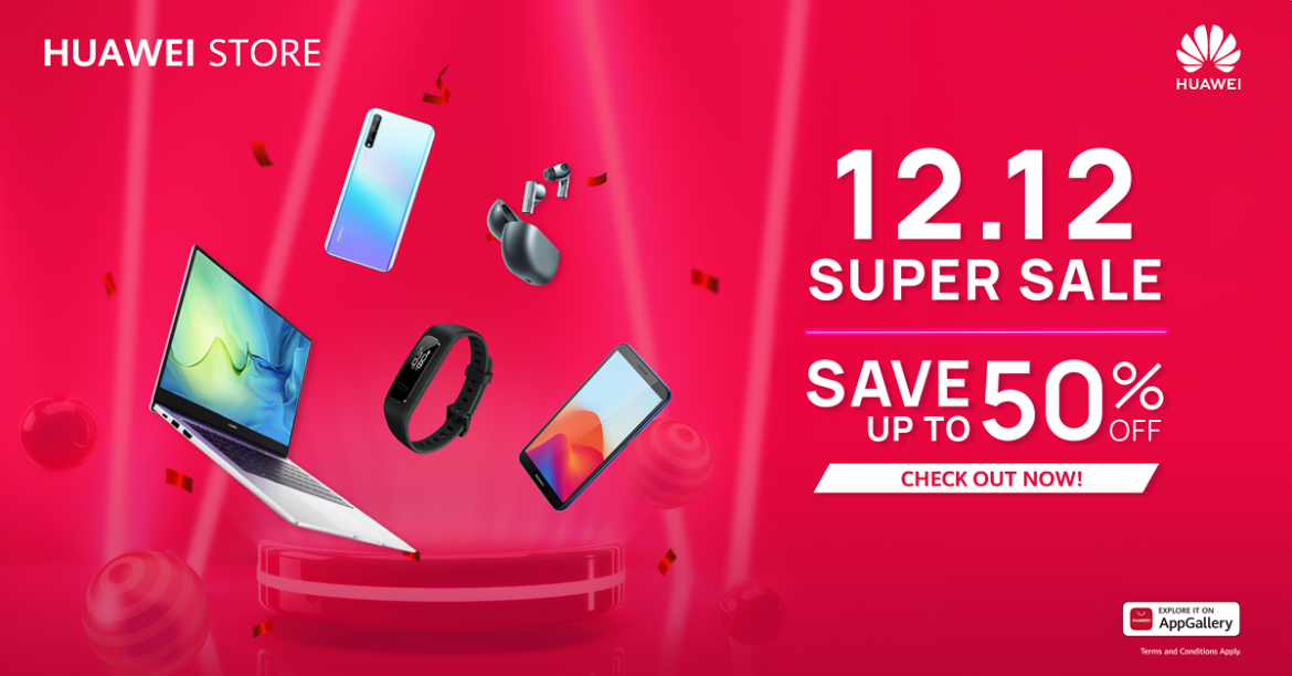 Huawei Store's 12.12 Super Sale at Huawei Store and Lazada