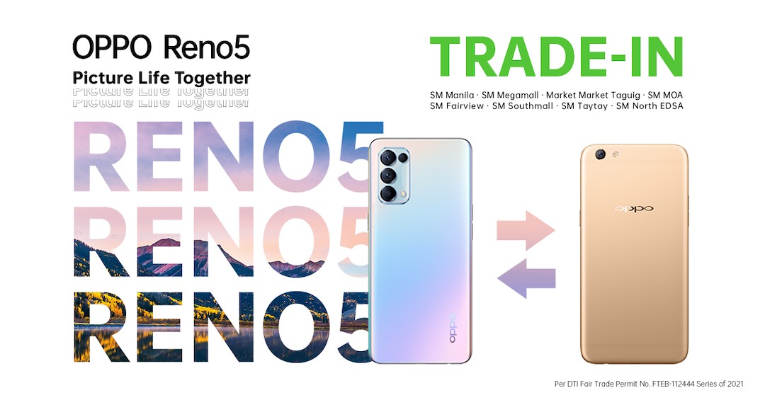 Reno5 Trade-in Program with up to PHP4,499 Discount on Feb 27