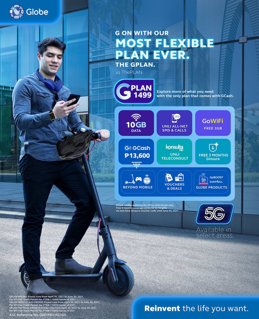 Globe Rolls Out All-Pew GCash-powered GPlans