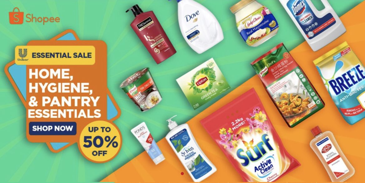 Get up to 50% off on Home, Hygiene & Pantry Essential at Uniliver Shopee