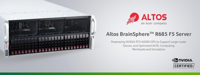 Altos Computing Announces Altos BrainSphereTM R685 F5 Server
