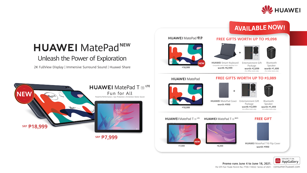 New Generation of Huawei MatePads launched in PH