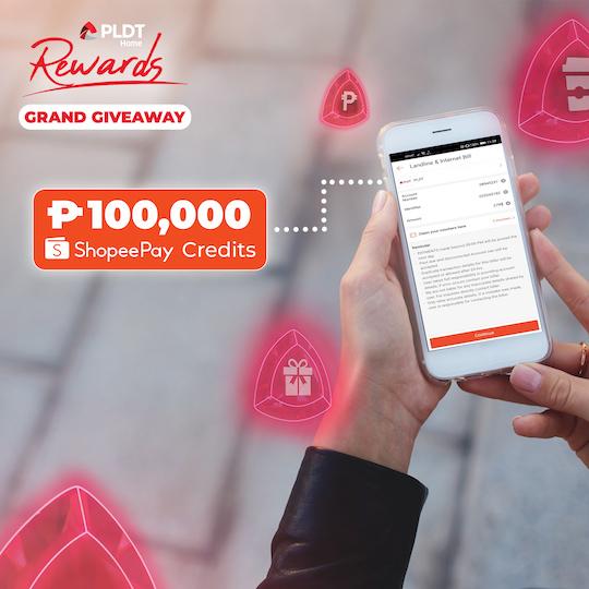 PLDT Home Rewards ₱1M ShopeePay Grand Giveaway