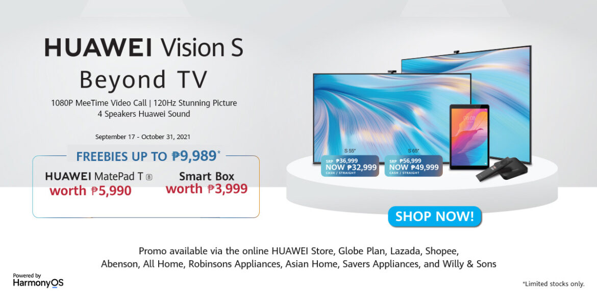 First Postpaid TV in PH: HUAWEI Vision S is Now Available in Globe Beyond Mobile Plan with ZERO Cashout